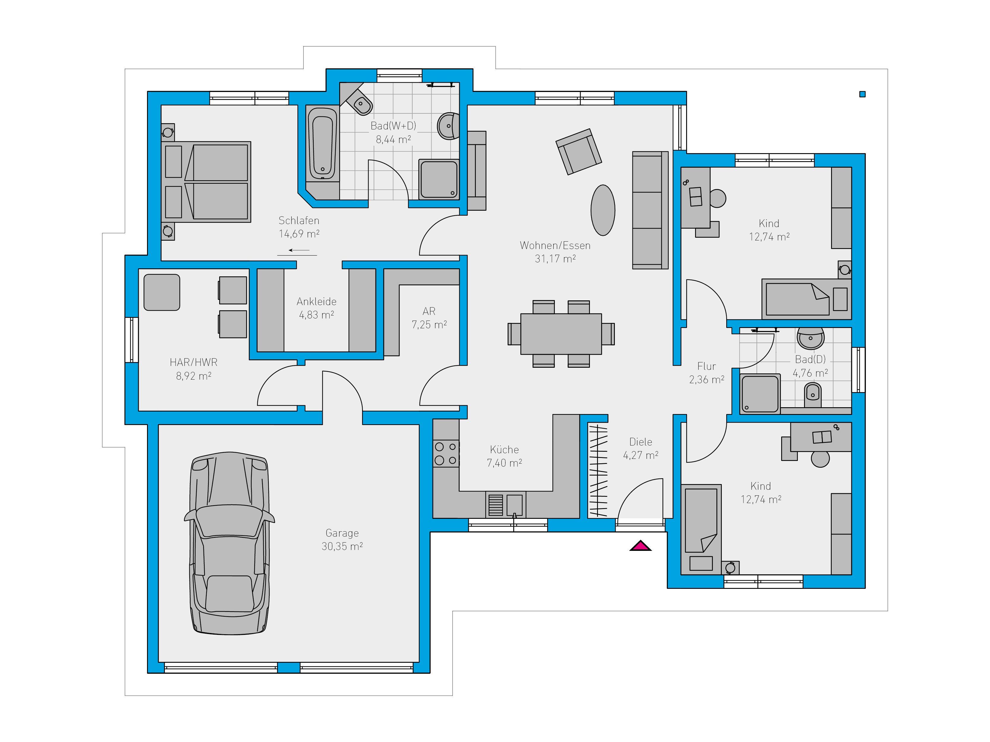 Schlüsselfertiges Massivhaus Spektralhaus: Plana 150 - Spektral-Haus