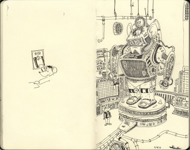 Todd's DrawingDen: Iron Mouse (sketch book)