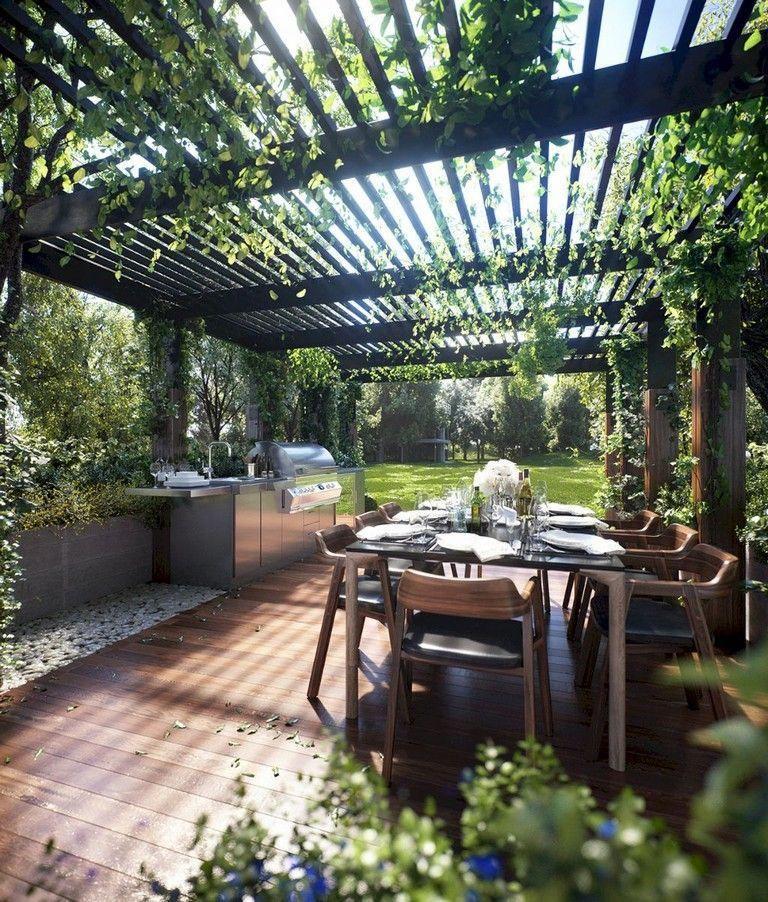Pergola Lighting Ideas Australia: 60+ Marvelous Backyard Pergola Plan Ideas #backyard