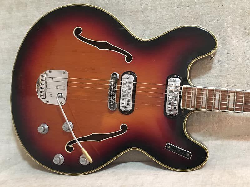 Vintage 1960 S Welson Ds 2t Electric Hollowbody Guitar Case Italy Eko Vox Dynacord Wurlitzer Firstone Reverb Vintage Electric Guitars Guitar Guitar Case