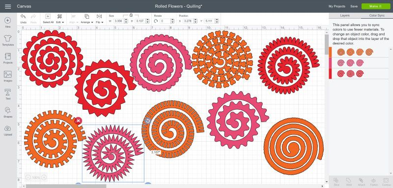 Make Rolled Flowers Using The Cricut Quilling Tool Paper Art