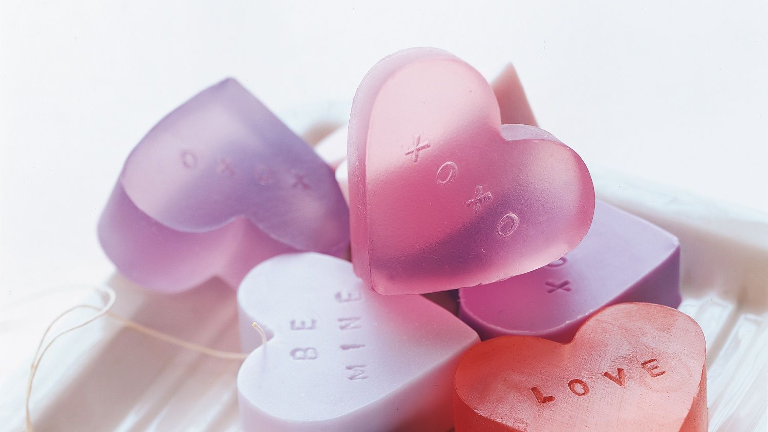 Heartshaped soap love valentines day fatherus day motherus day