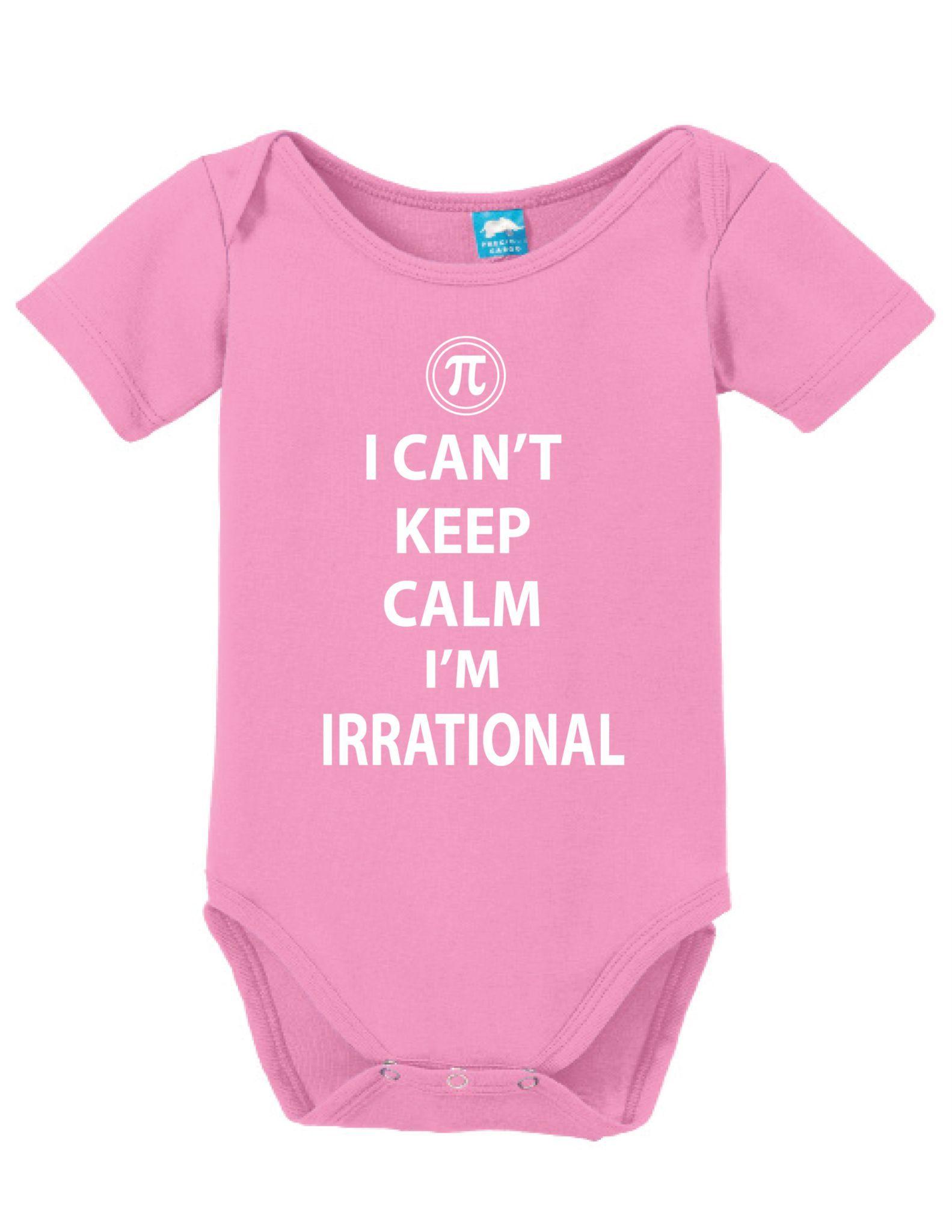 Pi Keep Calm Onesie Funny Bodysuit Baby Romper