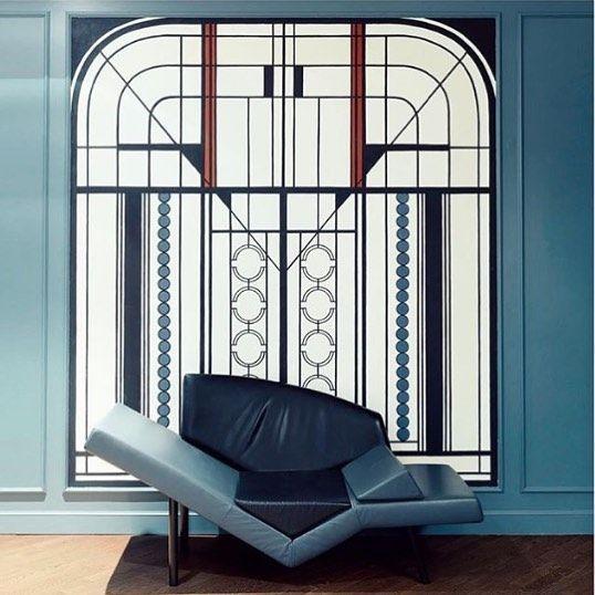 "887 mentions J'aime, 27 commentaires - Dorothée Meilichzon (@dorotheemeilichzon) sur Instagram: ""Hotel Bachaumont Lobby ! 🖌💙regram @alicemcavanagh in @wallpapermag guide ! #artdeco #designbychzon…"""