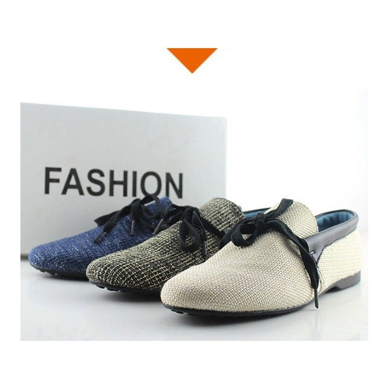 New Fashion England Mens shoes Breathable Linen Silp-on Casual Shoes Driving shoes soft bottom boat shoes