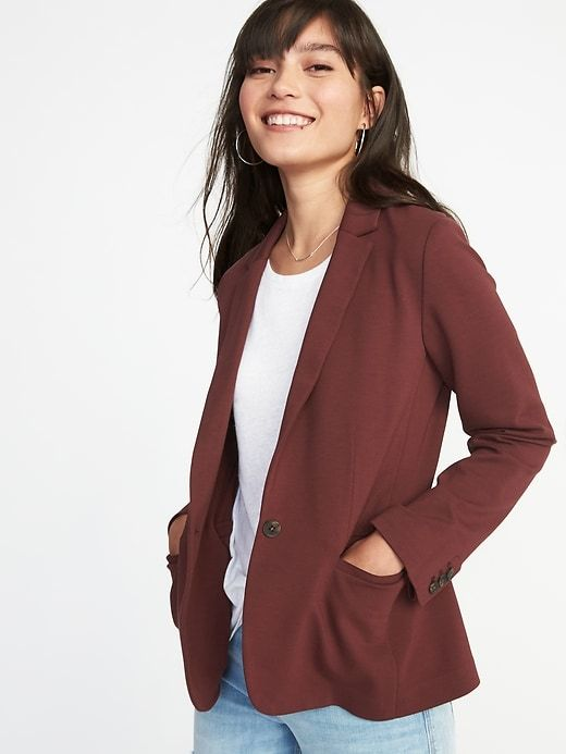 01a7647812ea3 Classic Ponte-Knit Blazer for Women | Old Navy | Shop List in 2019 ...