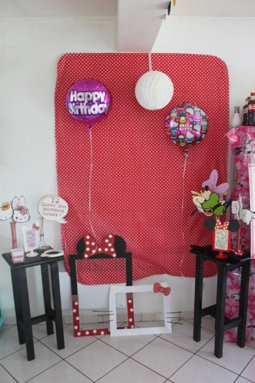 anniversaire enfant th me minnie et kitty f te. Black Bedroom Furniture Sets. Home Design Ideas