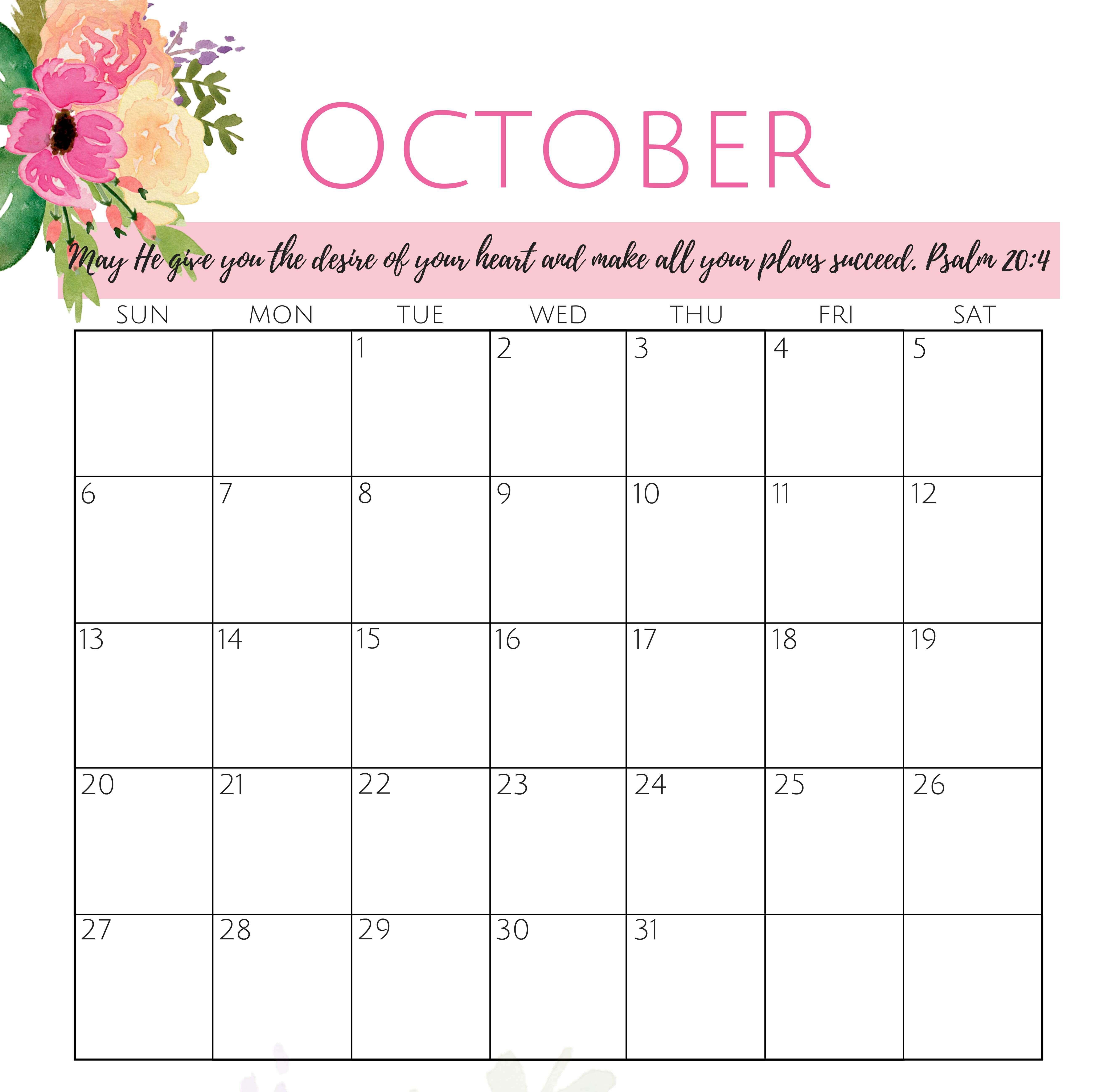 Online Calendar For October 2019 Template Online Calendar