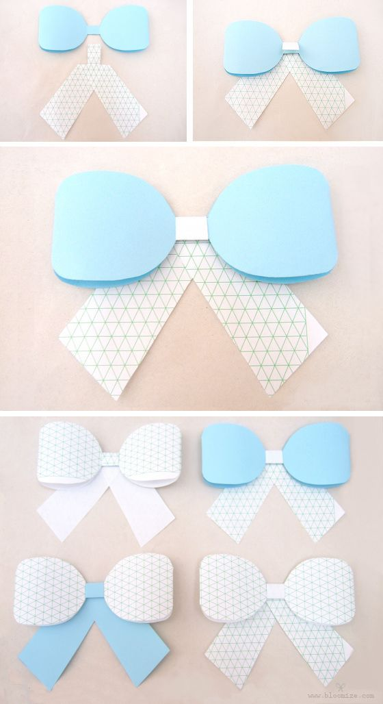 paper ribbon bow template Craftastically Pinterest Paper - bow template