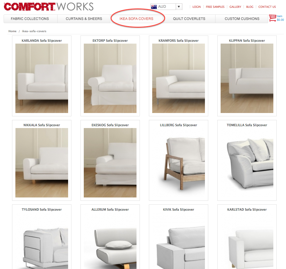 How To Order A Comfort Works Custom Ikea Sofa Slipcover