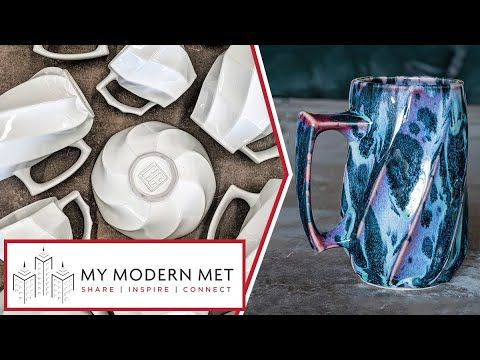 Slipcast Pottery with Unique Glazing by Curt Hammerly - YouTube