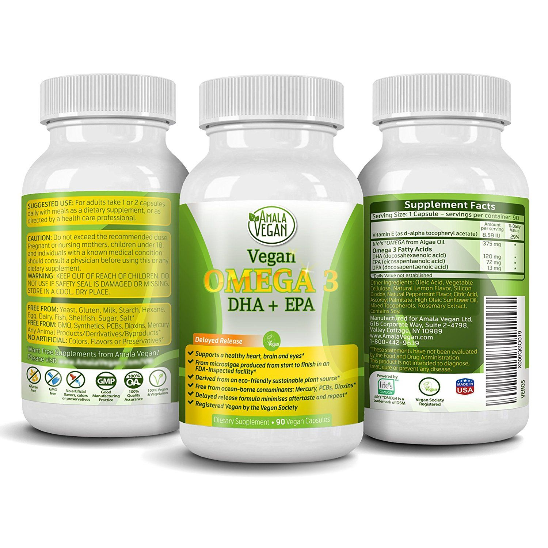 Amazon Com Potent Vegan Omega 3 Supplement W Essential Fatty Acids Vitamin E Dha Epa Vegetar Vegan Vitamins Fish Oils Supplements Essential Fatty Acids