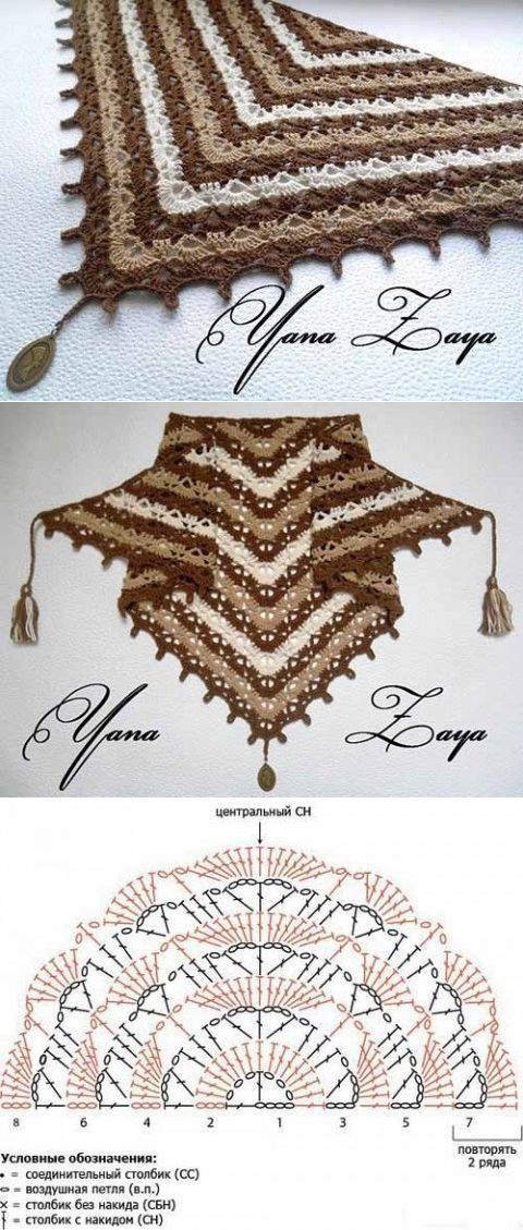 Diagrama Chal Triangular | textile draft | Pinterest | Chal ...