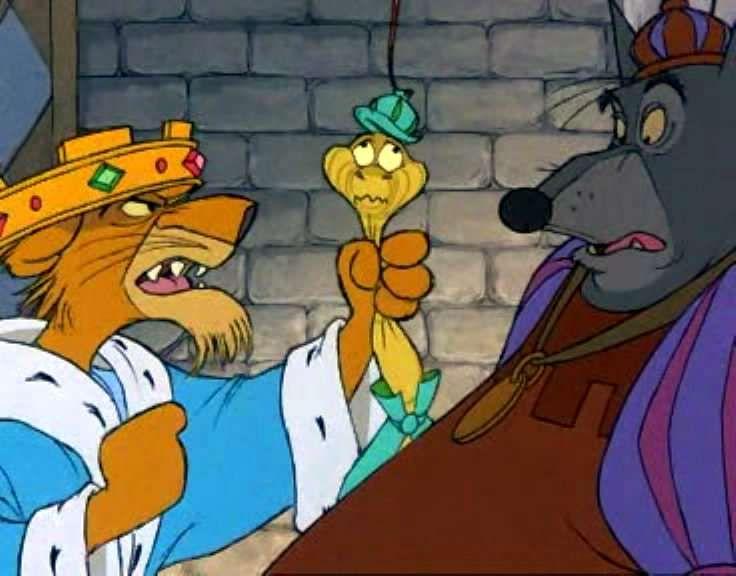 PRINCE JOHN, SIR HISS & SHERIFF of NOTTINGHAM ~ Robin Hood, 1973 ...