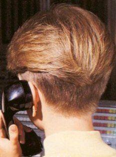 80s Wedge Haircut Back Hairstyles Vintage