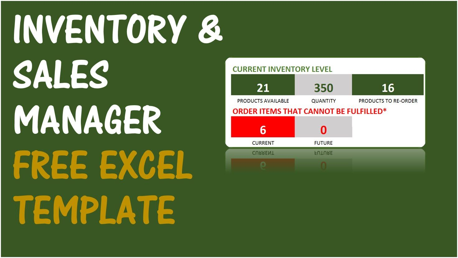 Free Inventory Management Software in Excel - Inventory
