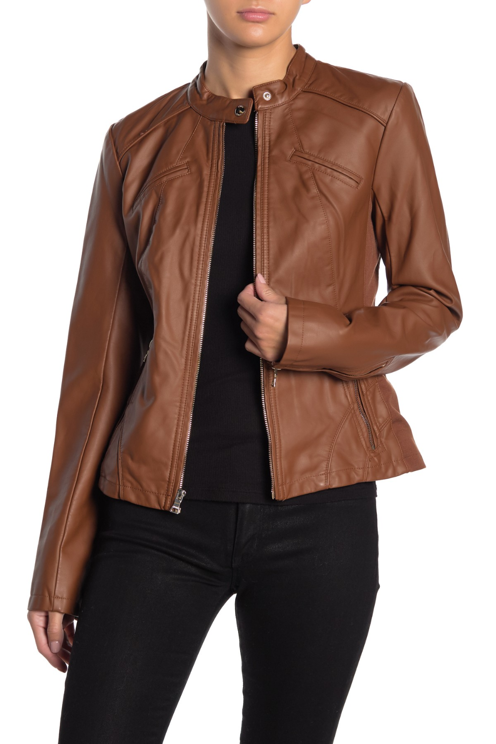 GUESS Faux Leather Jacket (With images) Leather jacket