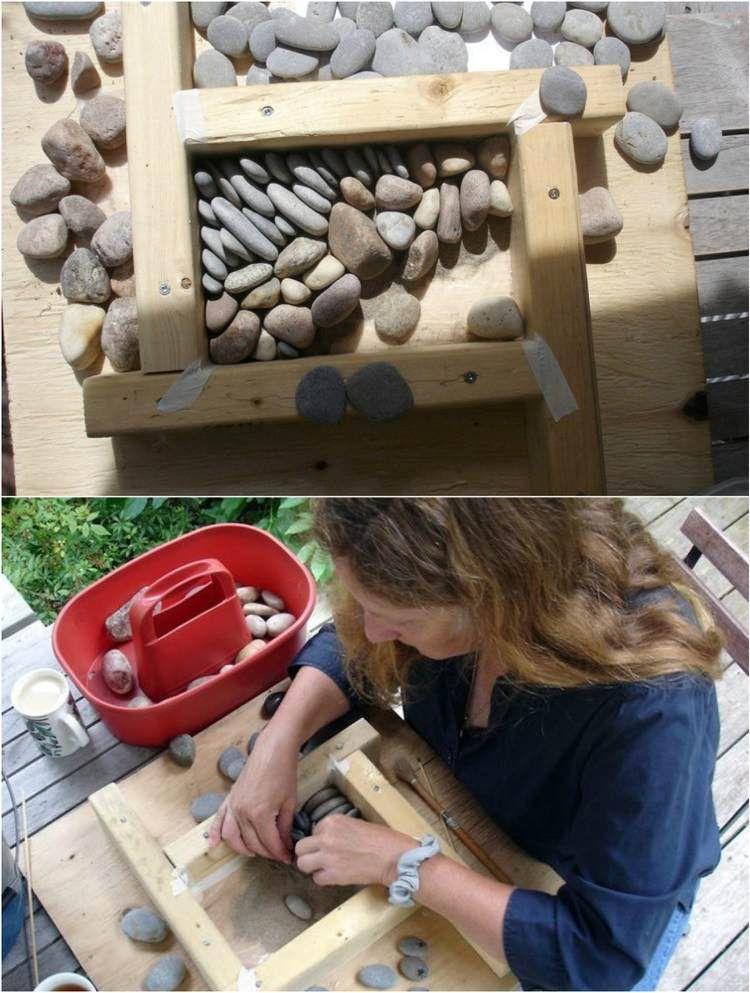 Für Mosaik Trittsteine benötigen Sie eine Schablone
