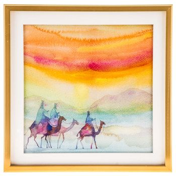 Watercolor Nativity Wise Men Framed Wall Decor More Watercolor