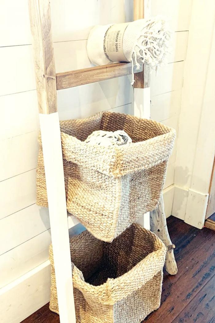 Handmade Craft Bathroom Storage idea