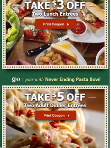 Olive Garden Coupons Dinner entrees, Dinner, Never
