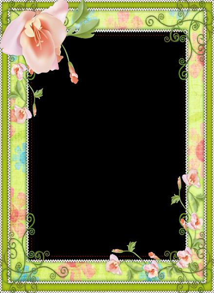 Light Green Transparent Flower Frame   cards and frame s   Pinterest ...