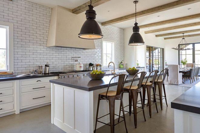 Modern Farmhouse Subway Tile Backsplash Subway Tile Backsplash Is A Waterworks Tile Grove Brickworks Fi Contemporary Farmhouse Kitchen Layout Kitchen Design