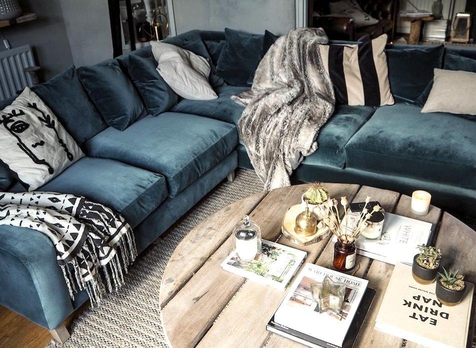 Loaf Oscar Corner Living Room Velvet In 2020 Couches Living Room Comfy Corner Sofa Living Room Living Room Loft