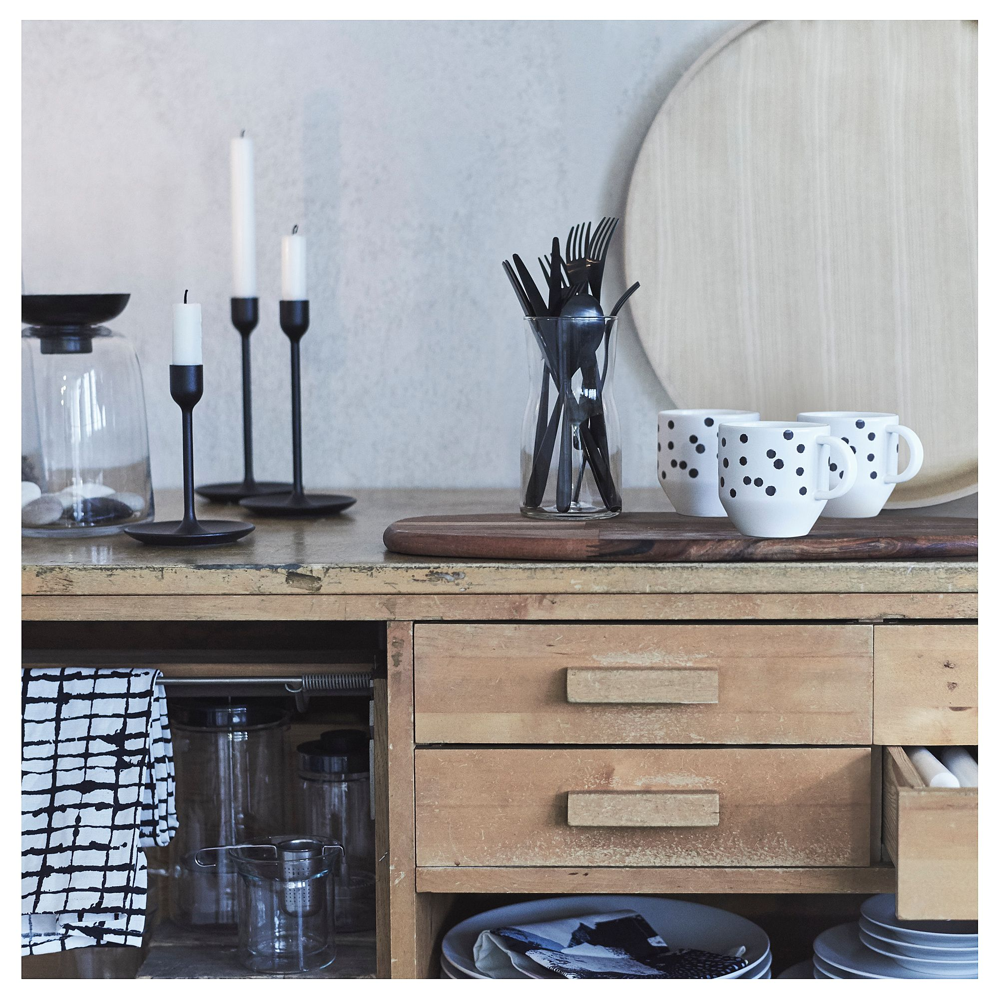 ikea tillagd 20 piece flatware set black in 2019. Black Bedroom Furniture Sets. Home Design Ideas