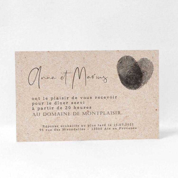 Une Jolie Carte D Invitation Dans Un Esprit Vintage Qui Allie A La Perfection Un Cote Si Faire Part Mariage Faire Part Mariage Vintage Carte Invitation Mariage