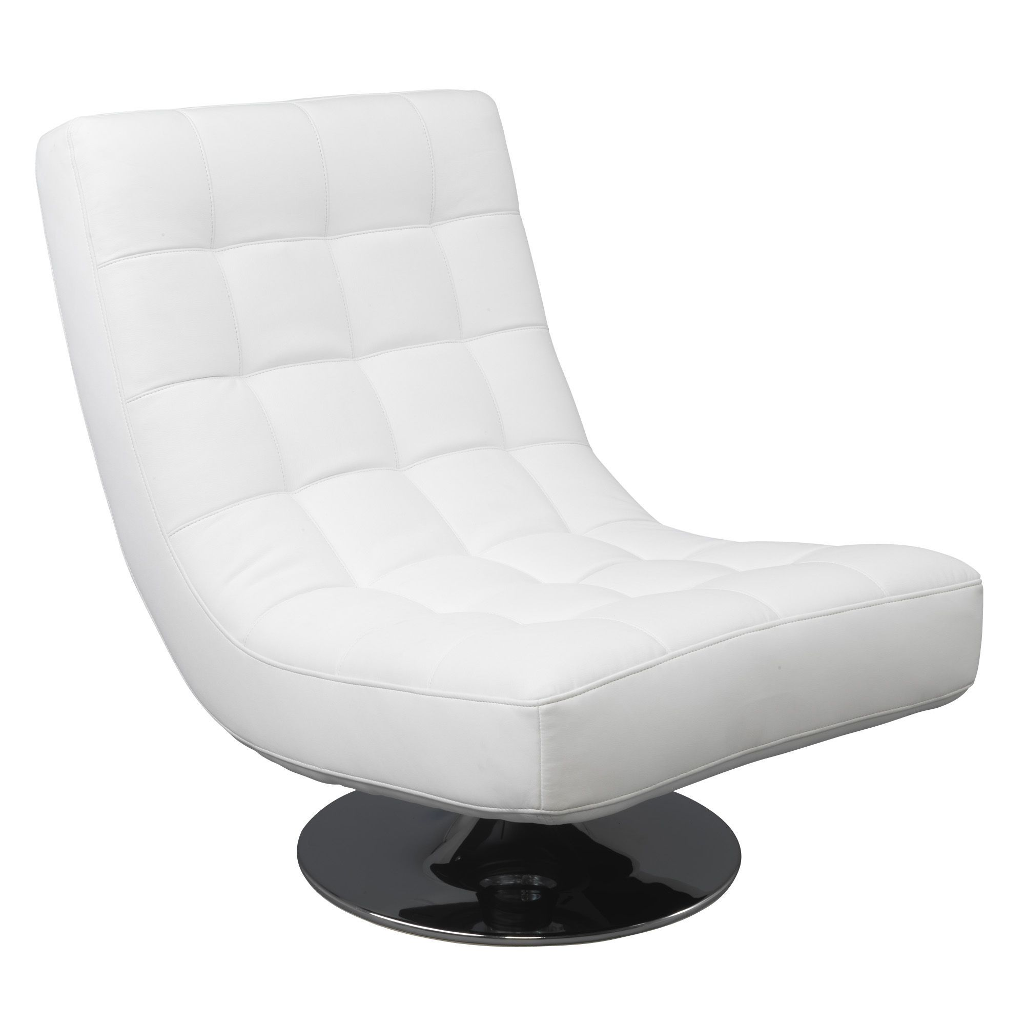 fauteuil pivotant effet cuir blanc blanc boss. Black Bedroom Furniture Sets. Home Design Ideas