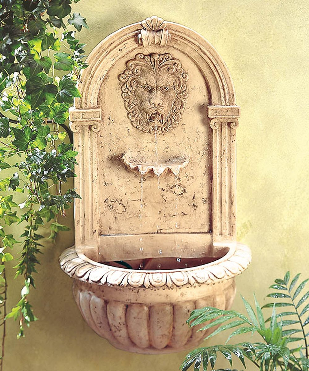 Lion Head Wall Fountain | Wall fountains, Fountain and Lions
