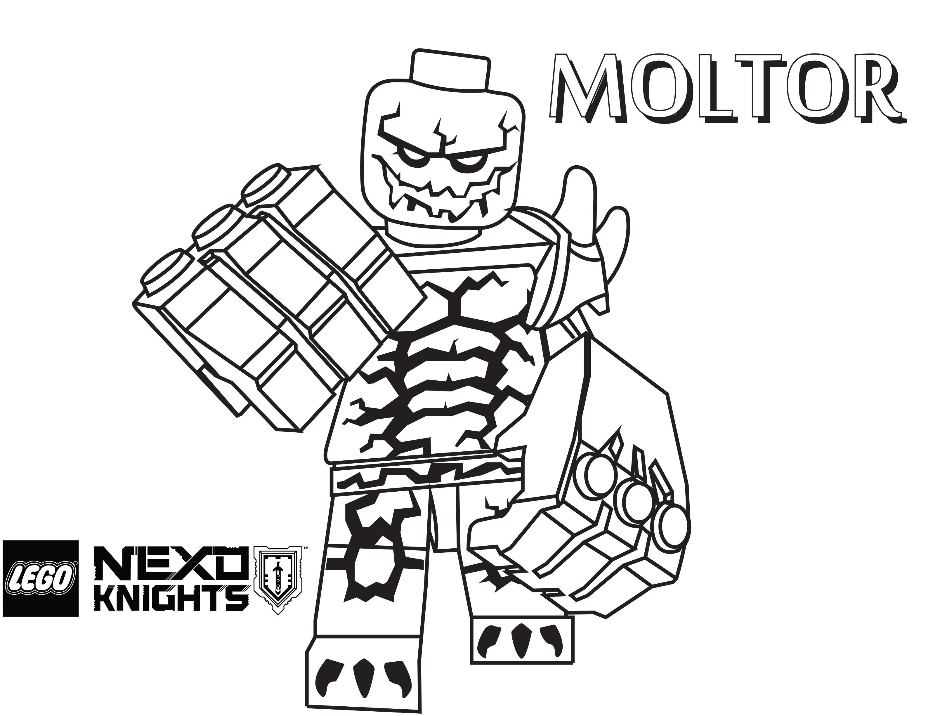 Nexo Knights Coloring Pages Cinebrique