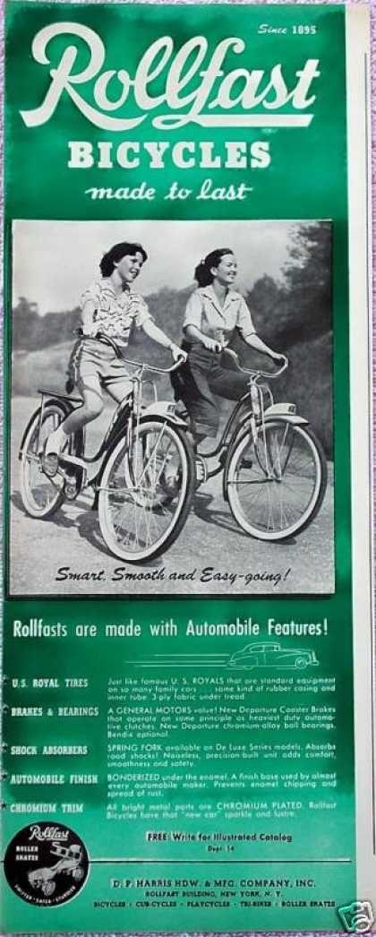 Vintage Toy Advertisements Of The 1940s Bicycle Bike Art Vintage Bike