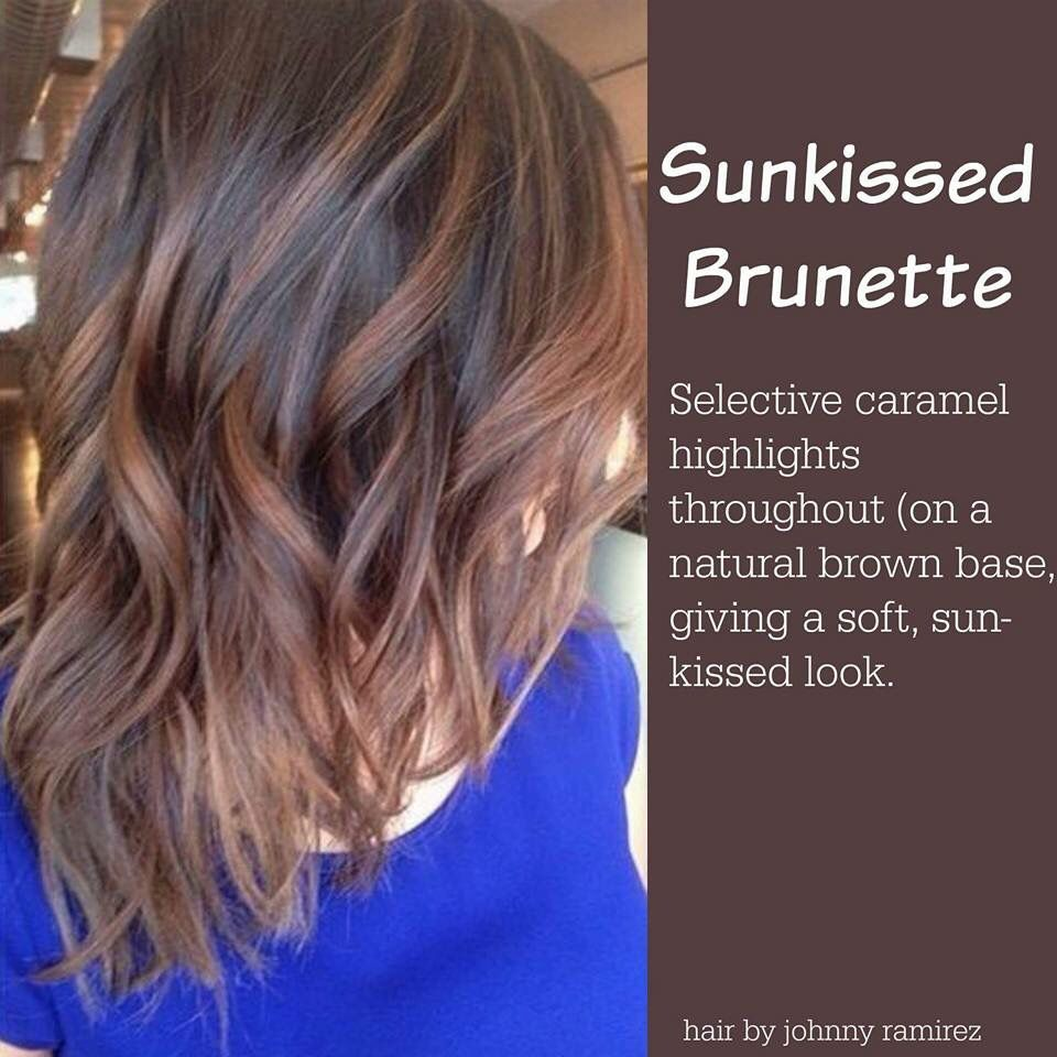 Sun Kissed Brunette Color Might Be My New Color For Summer Hair Styles Hair Color Brunette Hair Color