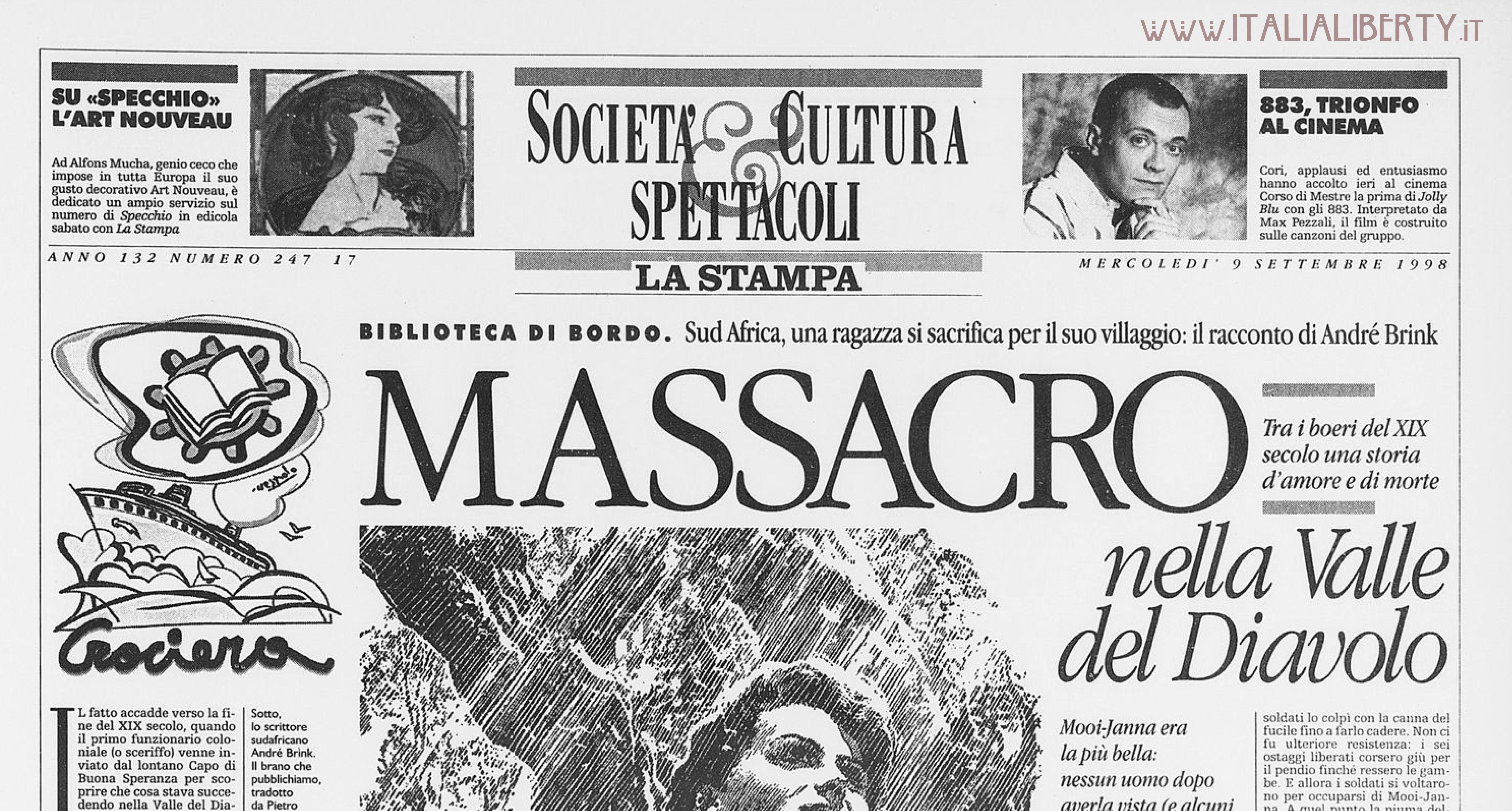 Cronache Liberty sul quotidiano La Stampa - www.flickr.com/photos/andreaspeziali/sets/72157636792860434
