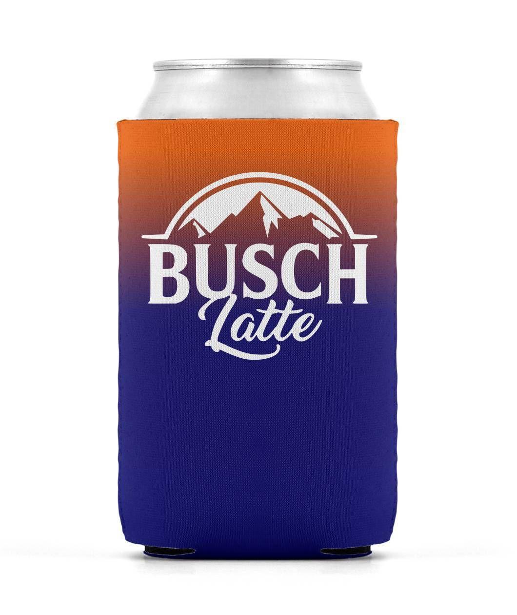 Busch Latte Can Cooler Can Sleeve