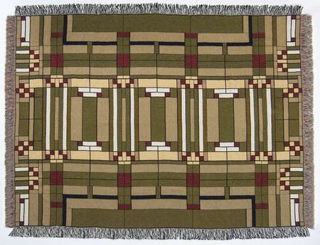 Frank Lloyd Wright Oak Park Throw Blanket Blankets Accessories