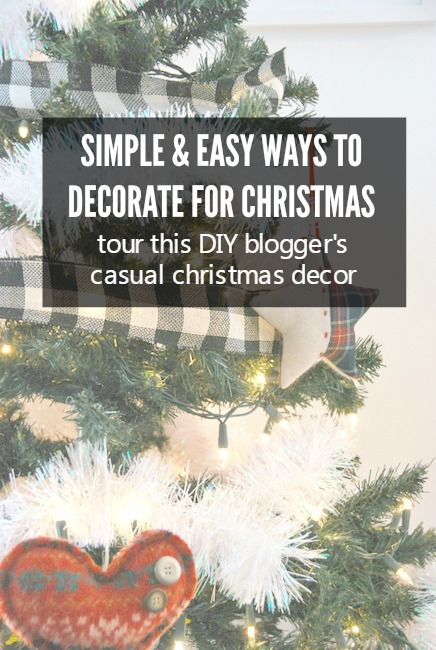 check out this bloggers christmas house tour featuring diy and budget friendly decor great ideas - Decorating House For Christmas On A Budget