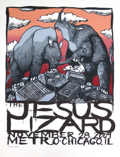 The Jesus Lizard Metro 112809 Art Design Pinterest Jesus