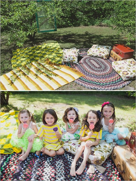 Super Colorful DIY Backyard Wedding Ideas Kids Picnic PartiesKids SeatingPicnic