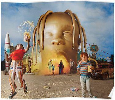 TRAVIS SCOTT POSTER astroworld canvas poster rap music poster