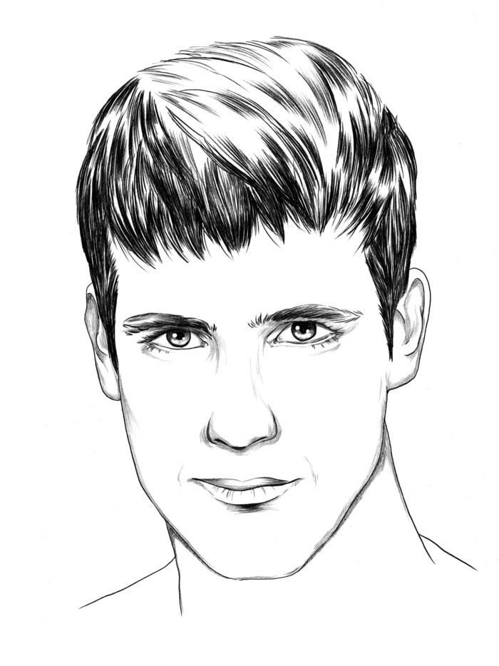 Frisuren männer rundes gesicht Ideen mit Gesichtsskizzen ...