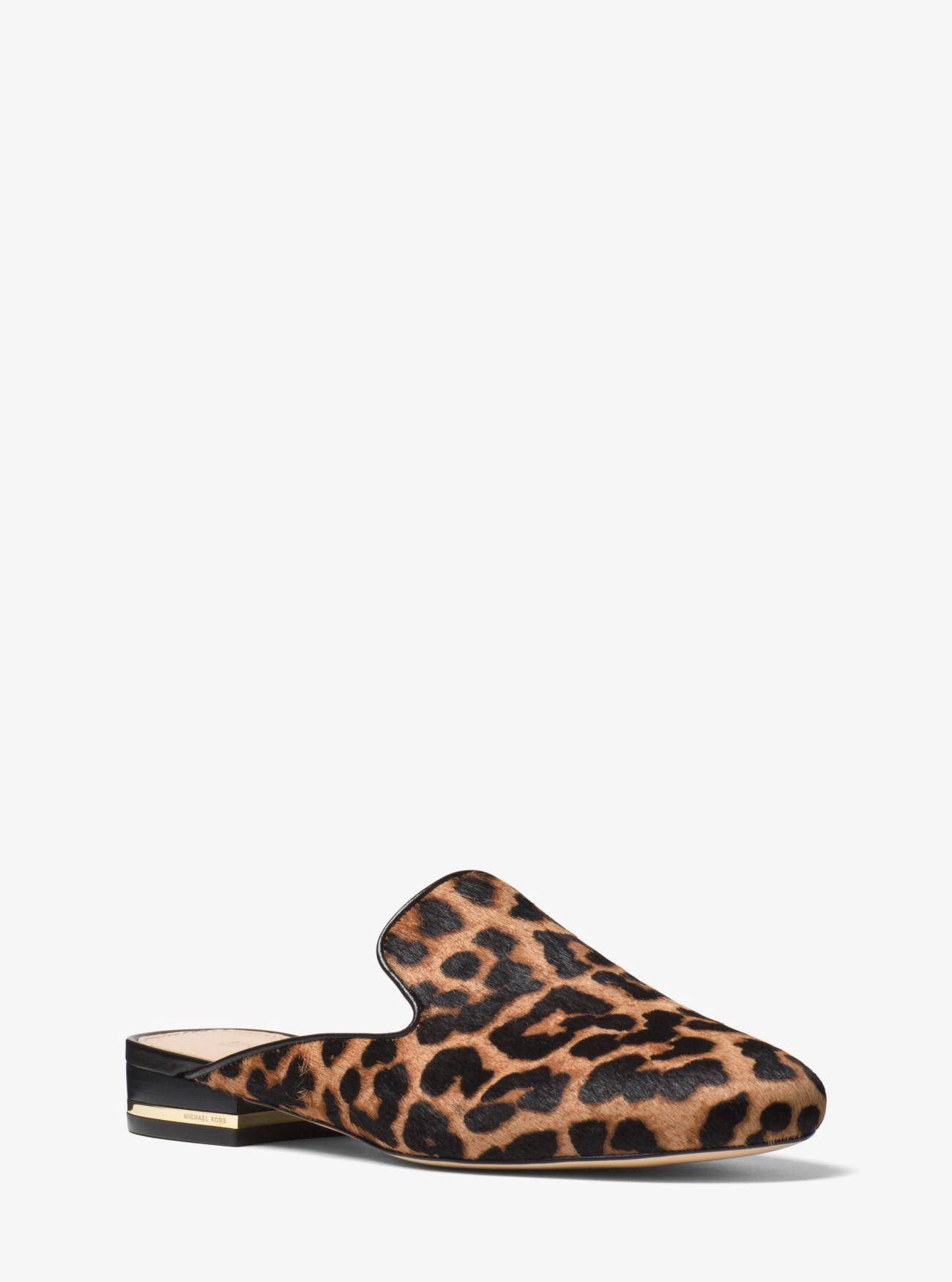 c8459e97705e MICHAEL KORS Natasha Leopard Calf Hair Slide. #michaelkors #shoes ...