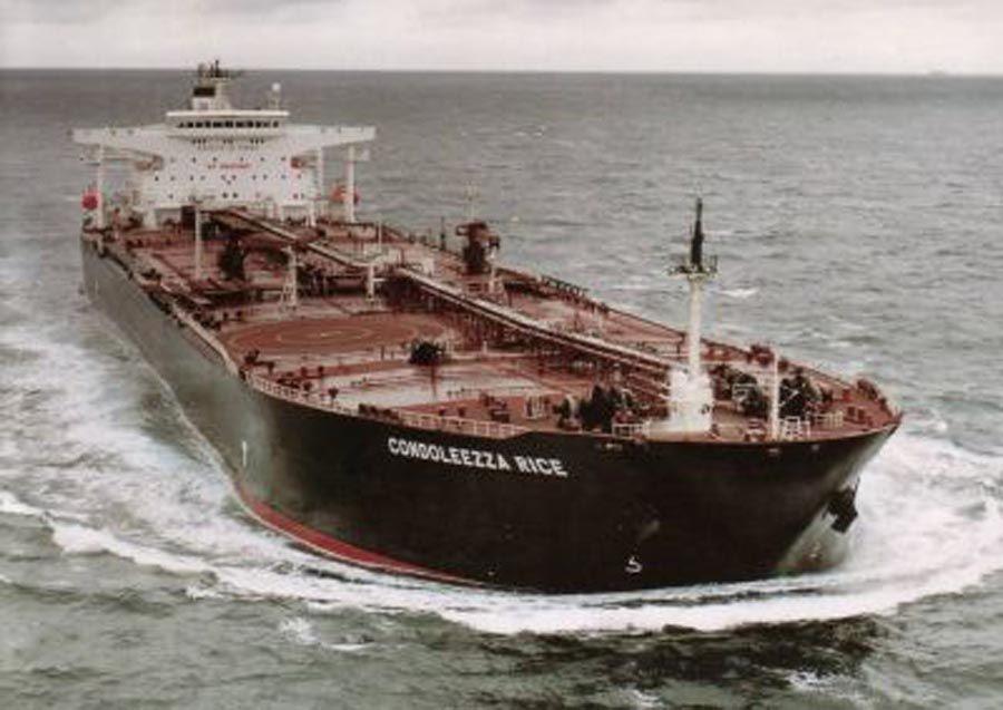 That's The Condoleezza Rice, the largest oil tanker in Chevron's