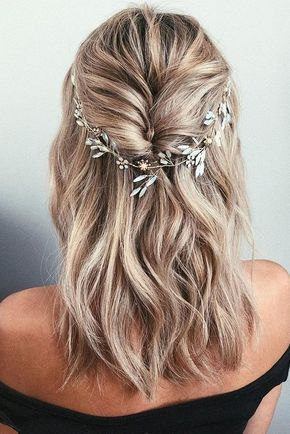20 Medium Length Wedding Hairstyles For 2021 Brides Emmalovesweddings Wedding Hairstyles Medium Length Elegant Wedding Hair Long Hair Styles