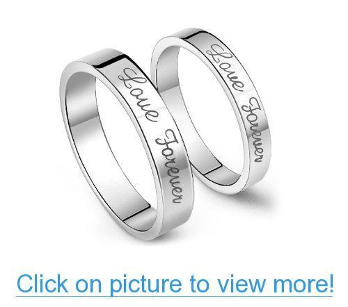 New Unisex Couple Ring Scrub Stainless Steel Band Wedding Jewelry Fashion Gift