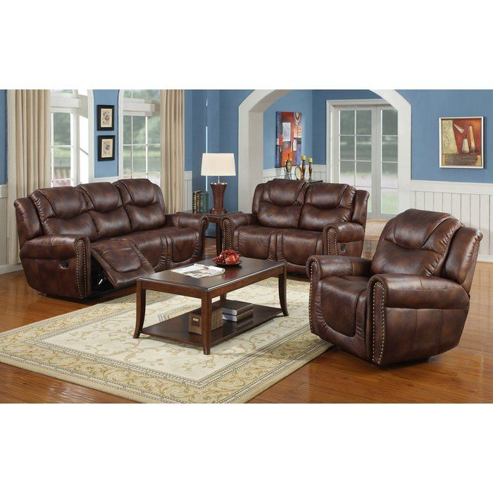Best Borger 3 Piece Reclining Living Room Set Leather Living 640 x 480