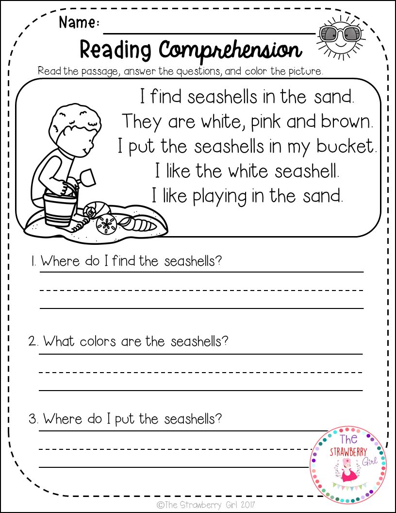 - Reading Comprehension Passages- Summer (With Images) Reading