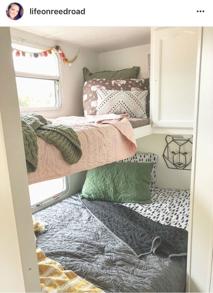 Bunkhouse Decorating Ideas Rv Life Military Style Glamper Camper Camper Decor Camping Trailer